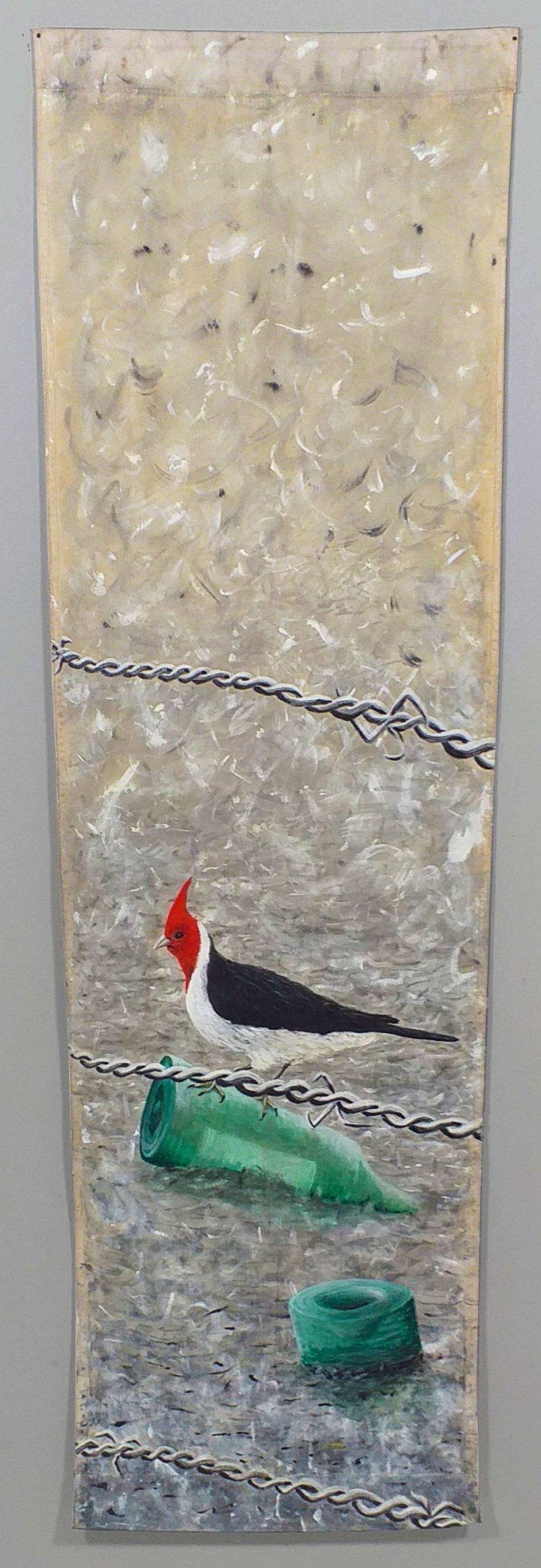Pintura pájaros obra del artista visual Guillermo del Valle