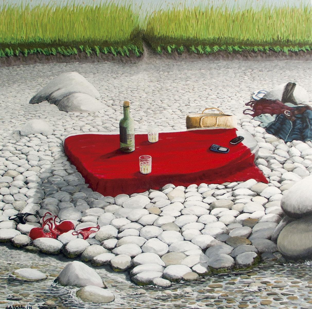 Pintura entre ellas del artista visual Guillermo del Valle