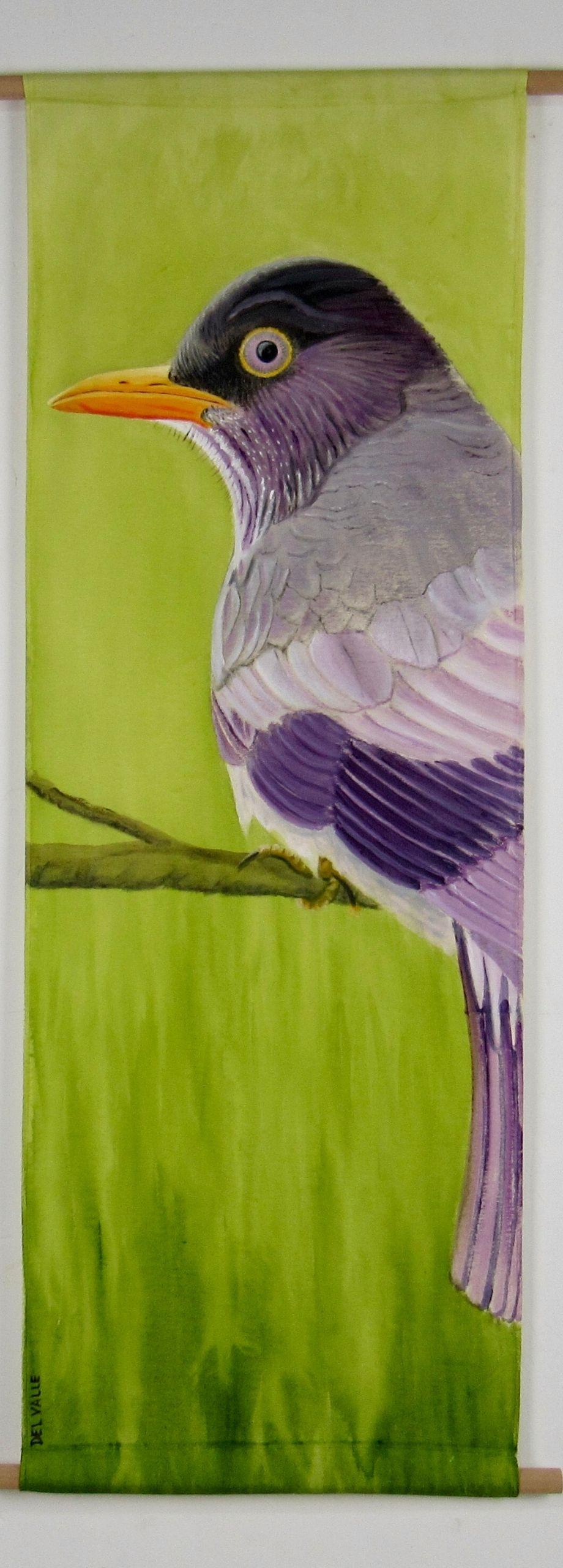 Patagonian thrush bird (135 x 45 cm)