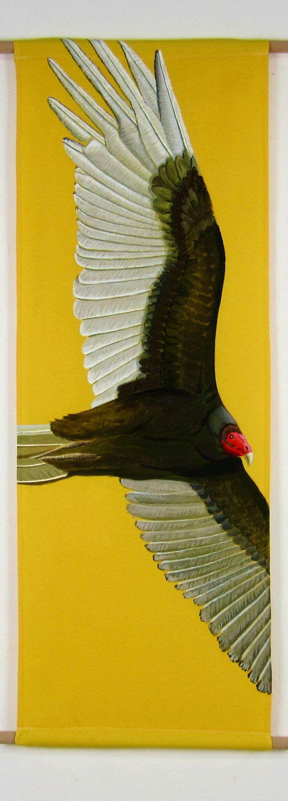 Red headed jote bird (135x45 cm)