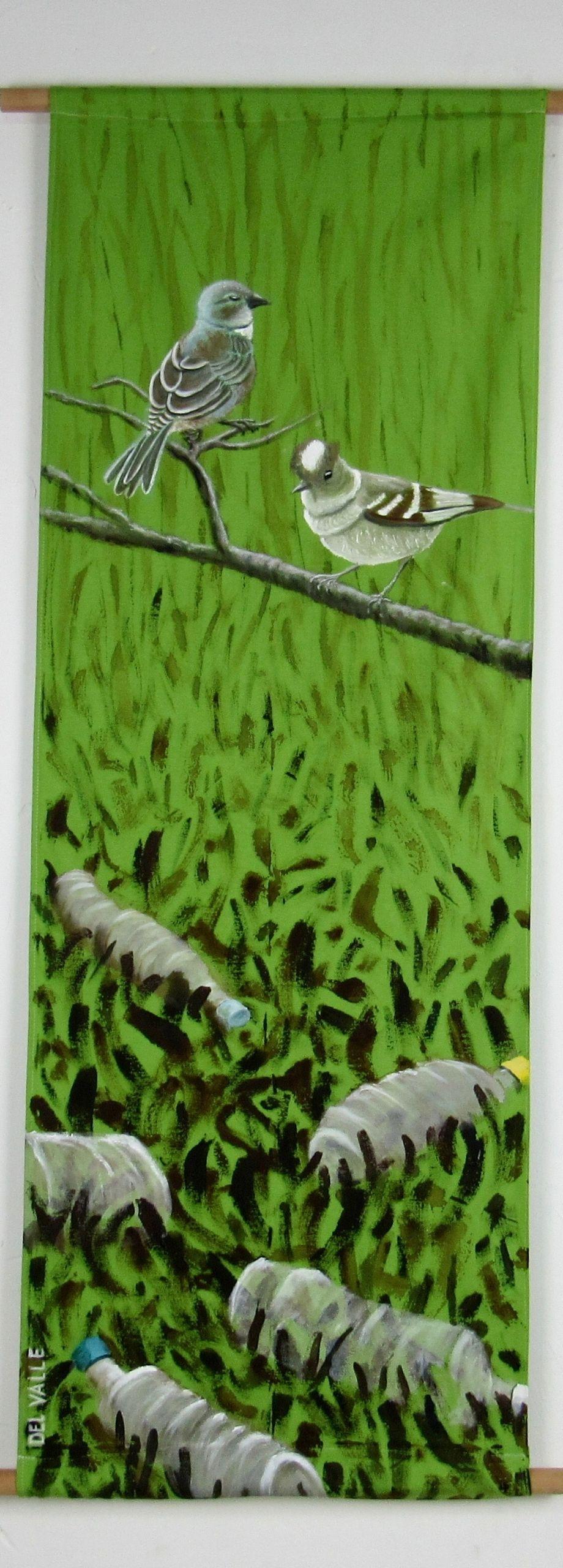 Diuca and Fio birds (135x45 cm)