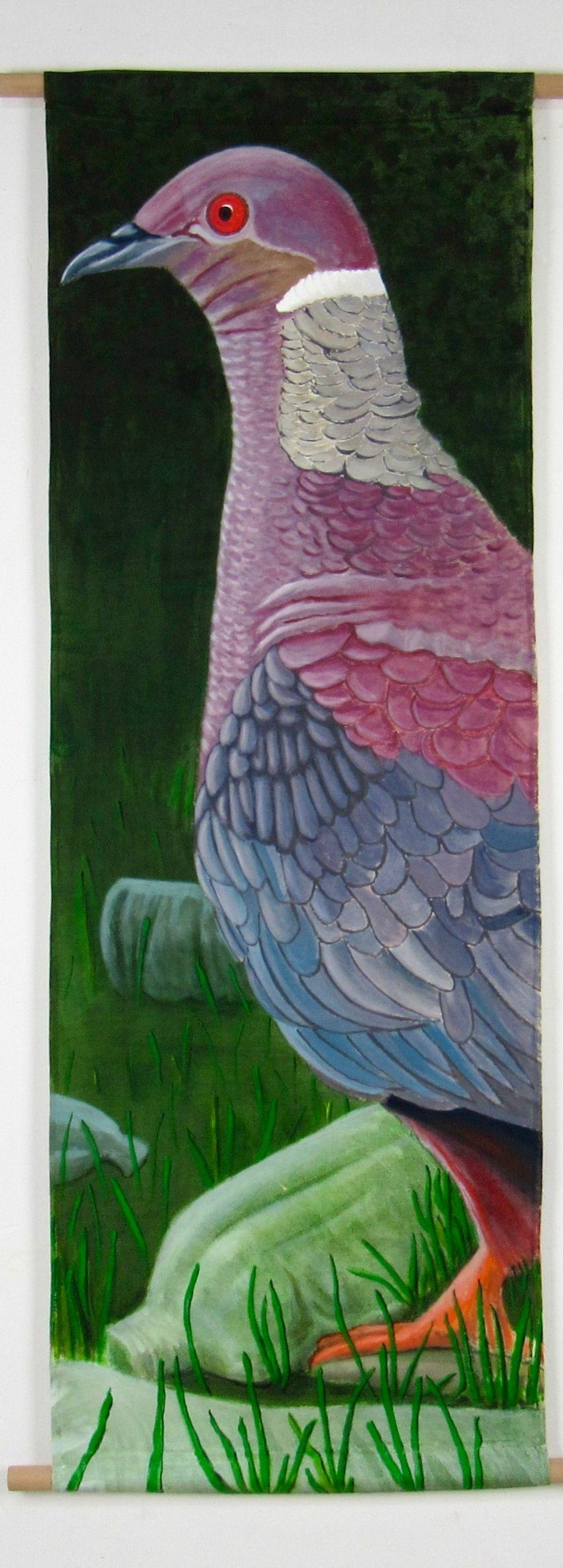 Araucanian pigeon bird (135x45 cm)