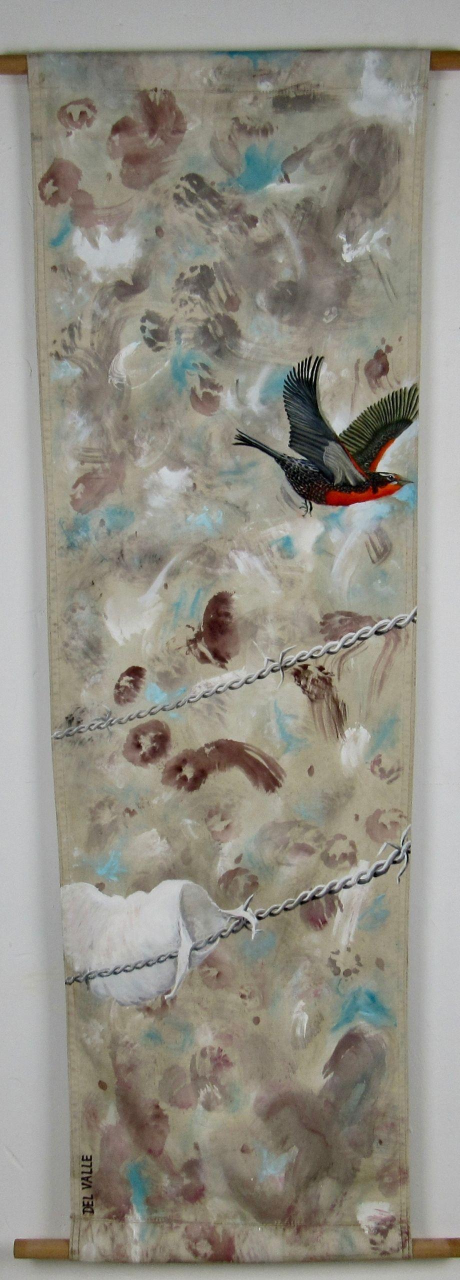 Loica bird (135x45 cm)